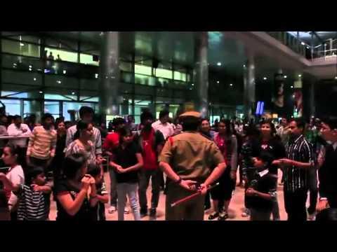 flash mob @ hyderabad airport