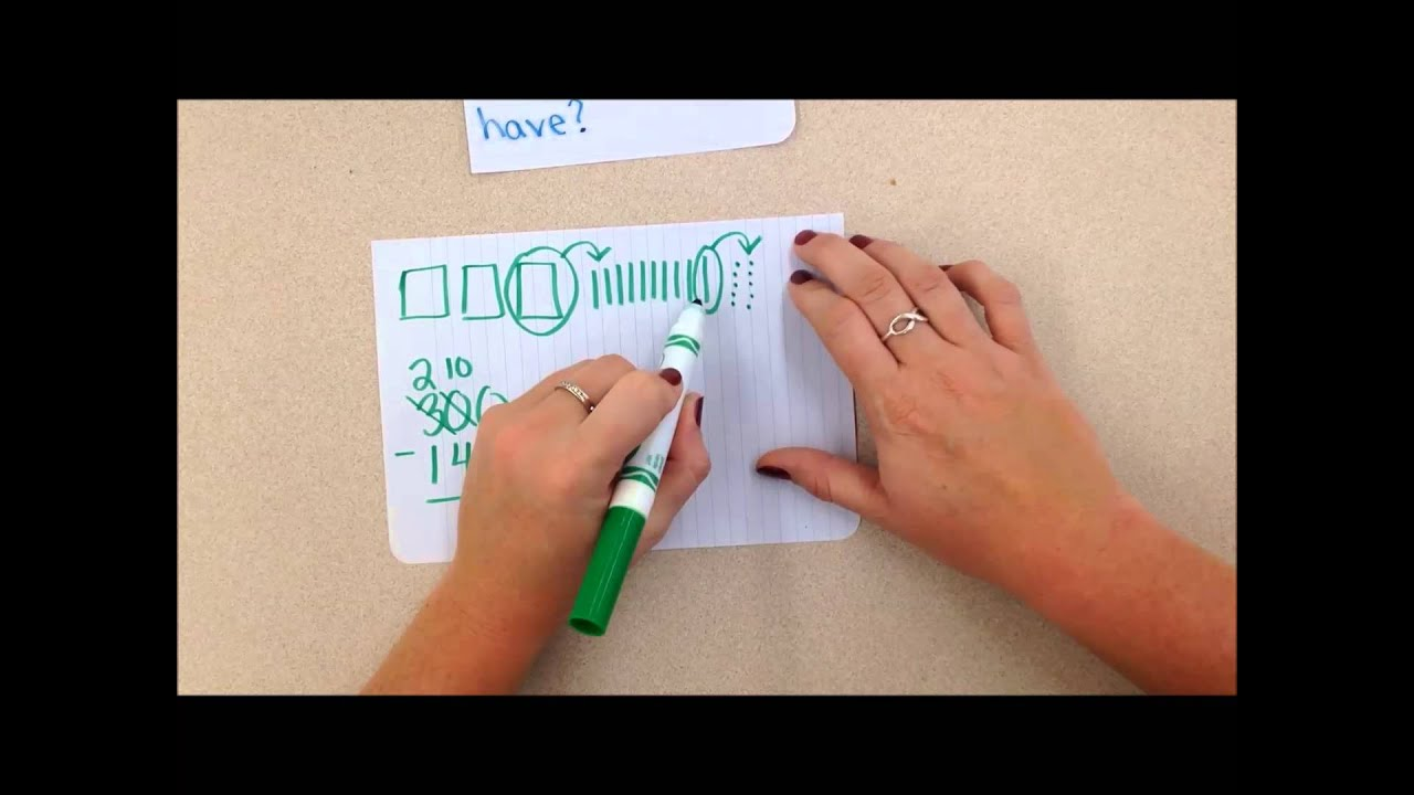 3 Digit Subtraction With Quick Pictures Youtube