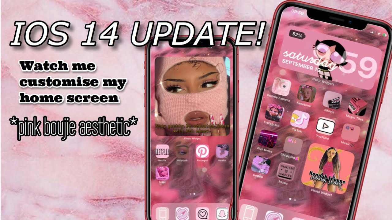 Ios 14 Update Watch Me Customise My Home Screen Tutorial Youtube