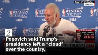 'A soulless coward': Four times San Antonio Spurs coach Gregg Popovich has criticized Trump