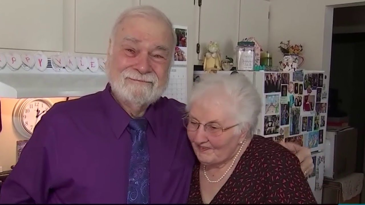 High school sweethearts reconnect, marry after 63 years - YouTube