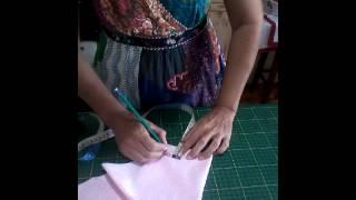 Viés artesanal fácil de fazer por Mania de Costura