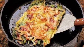 해물파전 / 캠핑요리 / 막걸리 한잔/ seafood …