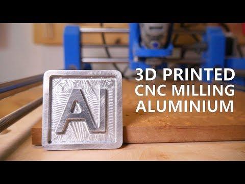 3D Printed DIY Dremel CNC Mills Aluminium