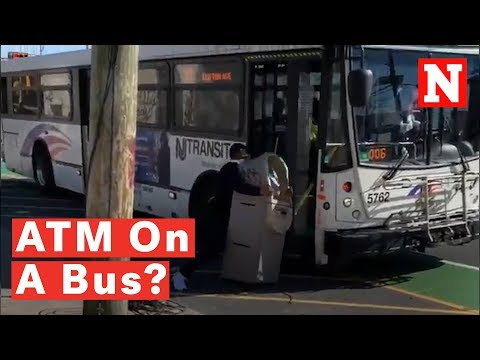 Watch: Comedian Tries To Lug A Whole ATM Machine Onto NJ Transit Bus And Goes Viral