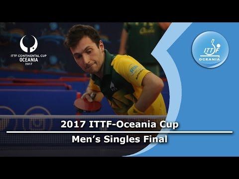 2017 ITTF-Oceania Cup Men's Final - David POWELL (AUS) vs Kane TOWNSEND (AUS)