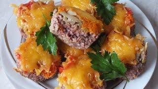 Мясные маффины блюда из фарша с грибами что приготовить из фарша и шампиньонов