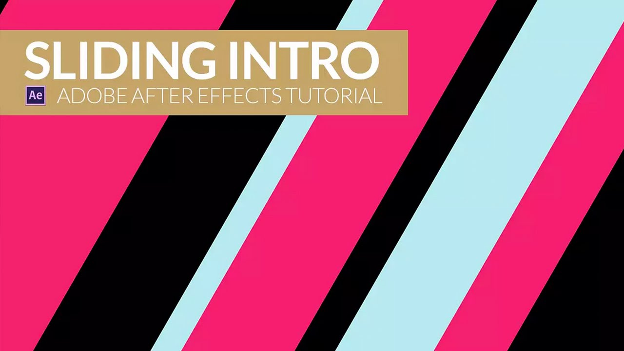 After Effects Video Tutorial: Sliding Intro - YouTube