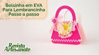 Bolsinha em EVA Para Lembrancinha com Revista Artesanato