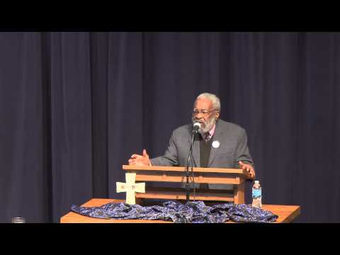 Vincent Harding speaks at Eastern Mennonite University