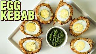 Egg Kebab Recipe  Easy Potato Egg Snack  How To Make Egg Kebabs  Egg Recipe  Smita Deo