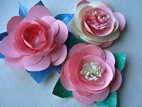 Diy paper flowers make a rose or water lily youtube diy paper flowers make a rose or water lily mightylinksfo
