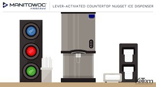 Manitowoc Lever-Activated Countertop Nugget Ice Dispenser