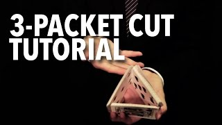 Cardistry for Beginners: Two-handed Cuts - 3 Packet Cut Tutorial