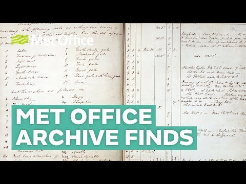 Five amazing finds from the Met Office archive