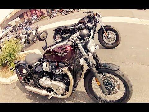 Triumph Bobber Vs Harley 48 1200