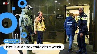 Weer een gevaarlijke bombrief gevonden bij hotel in Amsterdam