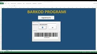 Excel'de Barkod Programı