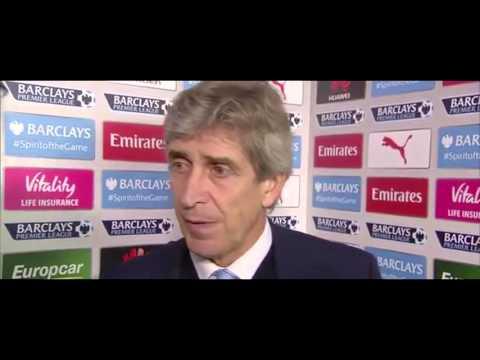 Arsenal 2-1 Manchester City - Manuel Pellegrini Post Match Interview