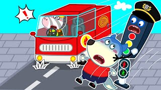 Wolf Family🌞 Kids Safety Tips for Crossing the Street - Wolfoo Learns Safety Tips for Kids + More
