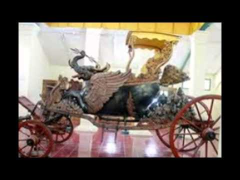 Antique horse drawn carriages in Indonesia
