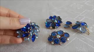 Благородный синий и кристаллы северное сияние