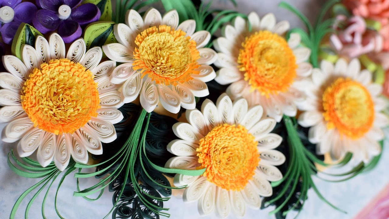 Quilled Flower Wreath Part 1: Quilled Flowers/ 3d Quilling