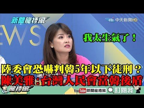 【精彩】陸委會恐嚇判韓5年以下徒刑? 陳美雅怒:台灣人民會當韓的後盾!