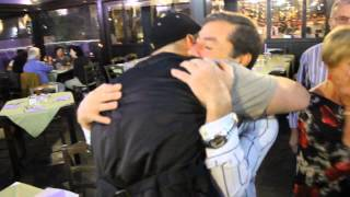 Son surprises Dad for his 60th birthday.