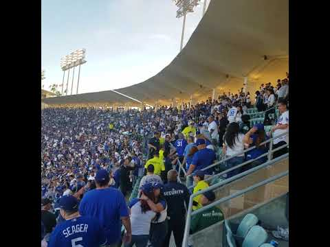Fight At Dodger Stadium - Opening Day 2018