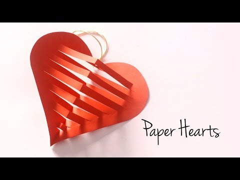 DIY Paper Heart for Valentines Day | Hanging Paper Decorations