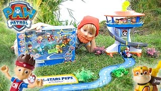 Щенячий Патруль на русском - Квест за посылкой. Paw Patrol All Stars Pups Action Pack Ryder Rescue