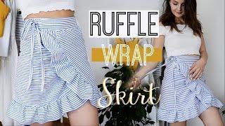 How to make a Ruffled Wrap Skirt   Owlipop DIY