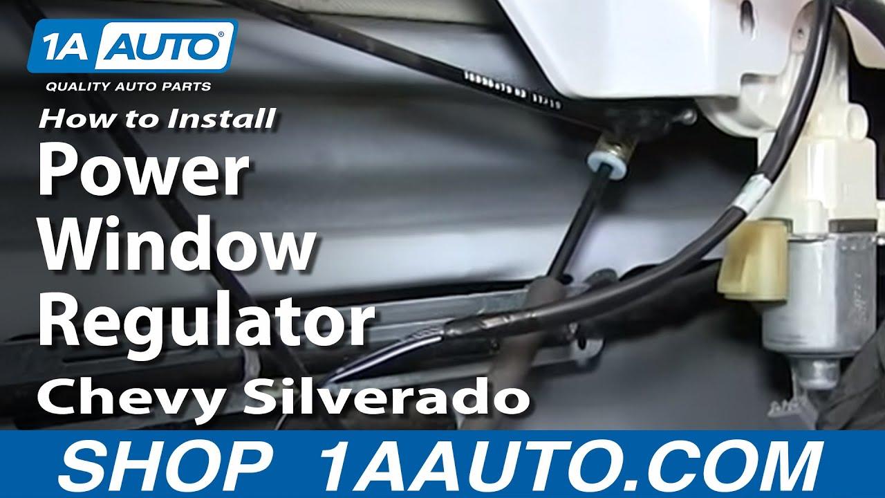how to install replace power window regulator 2007 2013 chevy silverado gmc sierra youtube [ 1920 x 1080 Pixel ]