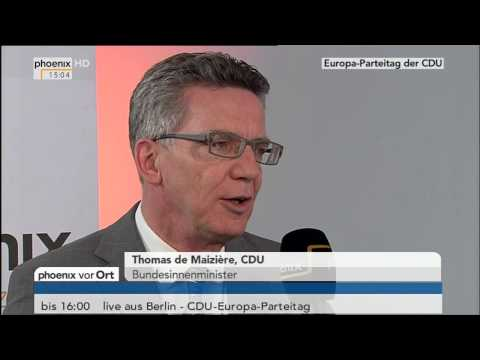 CDU-Europaparteitag: Thomas de Maizière im Interview vom 05.04.2014