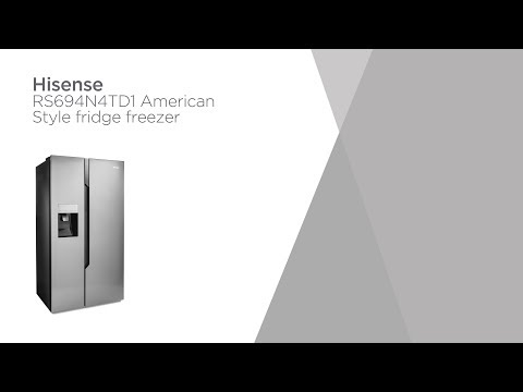 Hisense RS694N4TD1 American-Style Fridge Freezer - Silver | Product Overview | Currys PC World
