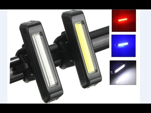 Warning Bicycle Rear Light Double Beam  Bike Light 5 Modes Rechargeable Tail Lamp XIESHENG