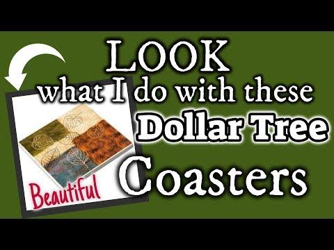 LOOK what I do with these DOLLAR TREE COASTERS | Dollar Tree FARMHOUSE DIY