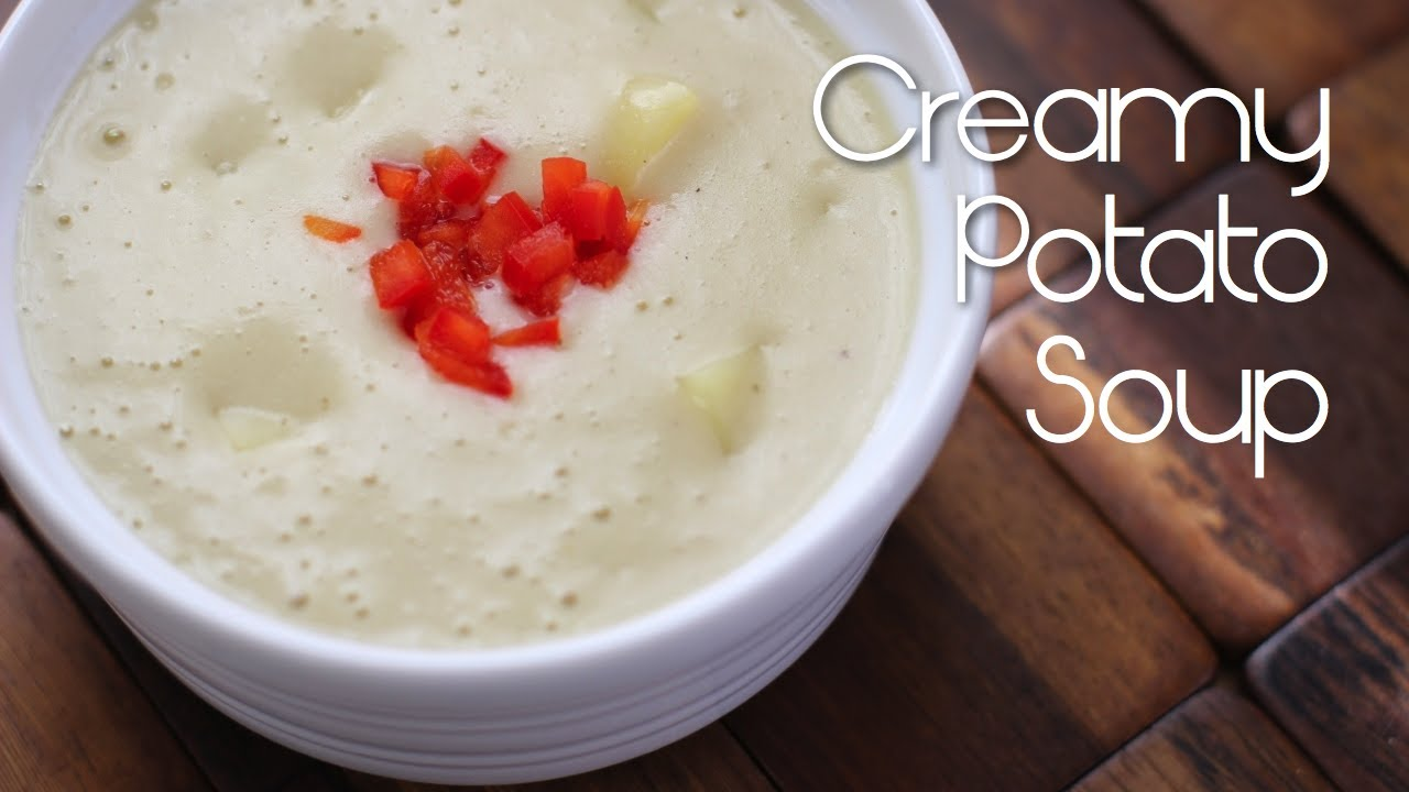 Creamy Vegan Potato Soup Youtube