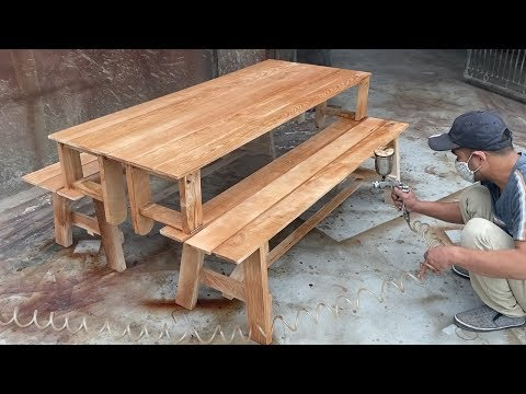 How To Building A Smart Modern Beautiful Wooden Table - Design Ideas Woodworking Project Furniture
