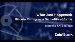 What Just Happened: Bitcoin Mining as a Geopolitical Game