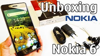nokia 6 Unboxing 4K with all original accessories TA-1021 review