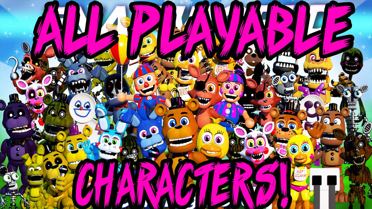 Every playable character all teasers done fnaf update youtube