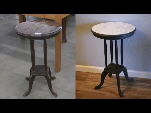 How to Transform An Old End Table - Upcycle DIY