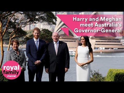 Prince Harry and Meghan meet the Queen's Australian representative