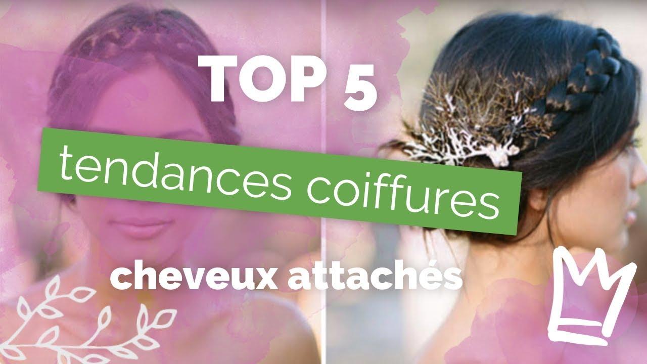 Coiffure Cheveux Attaches Tendances Mariage 2019 Top 5 Des Plus