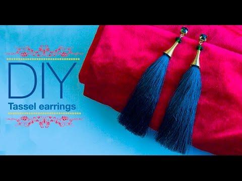 How to make silk thread Tassel earrings| DIY | Jewellery making