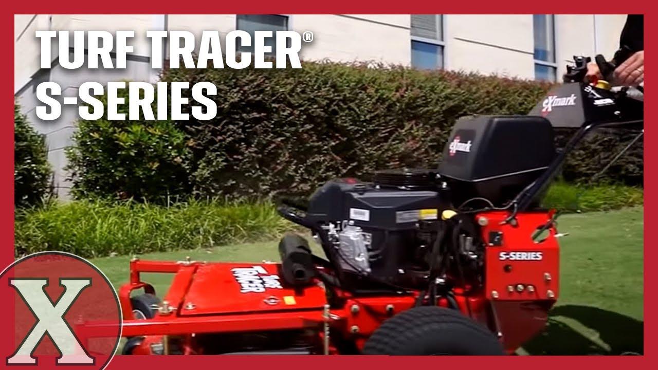 Stand Behind Lawn Mower >> Exmark Turf Tracer S-Series Walk-Behind Mower - YouTube
