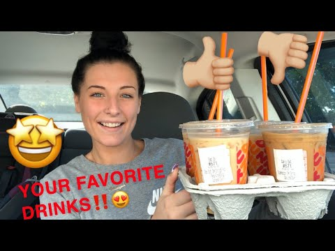 5 MOST POPULAR DUNKIN DONUTS COFFEE REVIEW‼️‼️