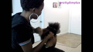 pin curl twist up do